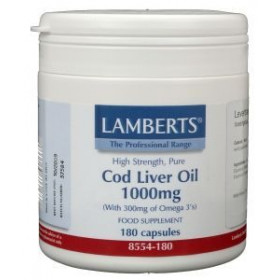 Levertraan (cod liver oil) 1000 mg - 180caps