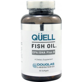 Quell Fish Oil - High EPA + DHA w/Vitamin D3-60 Softgels